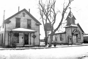 Old St. John's Evangelical Lutheran Church inand Parsonage downtown Salt Lake City.