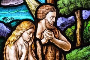 Adam and Eve representing sin