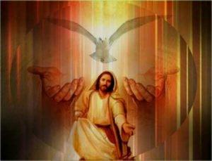 Jesus releasing a dove